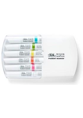 Set x 6 Marcadores Pigment Marker Tonos Vibrantes