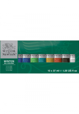 CAJA ÓLEO WINTON 37ML X 10 COLORES WINSOR & NEWTON RF 1490619